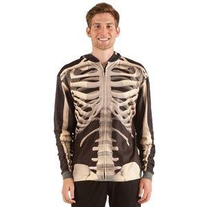 NWT Anatomical Skeleton Zip Hoodie Sweatshirt